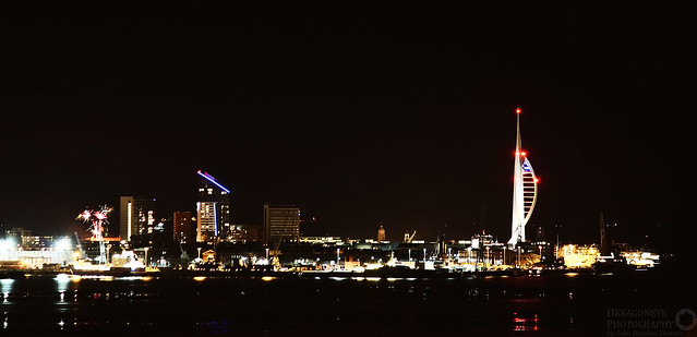 Looking across at Portsmouth at Night  Model - Canon EOS 650D ExposureTime - 20 seconds FNumber - 5.60 ISOSpeedRatings - 100 FocalLength - 200 mm