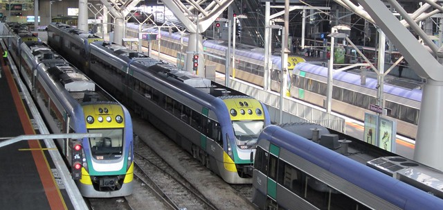 V/Line uses platforms at Southern Cross as stabling
