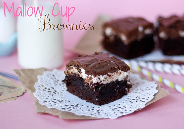 Mallow Cup Brownies recipe