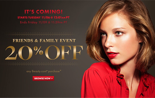 beauty beauty.com friends family sale ff f&f off 20 %