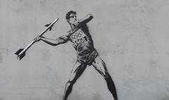 Banksy Olympic Javelin Thrower