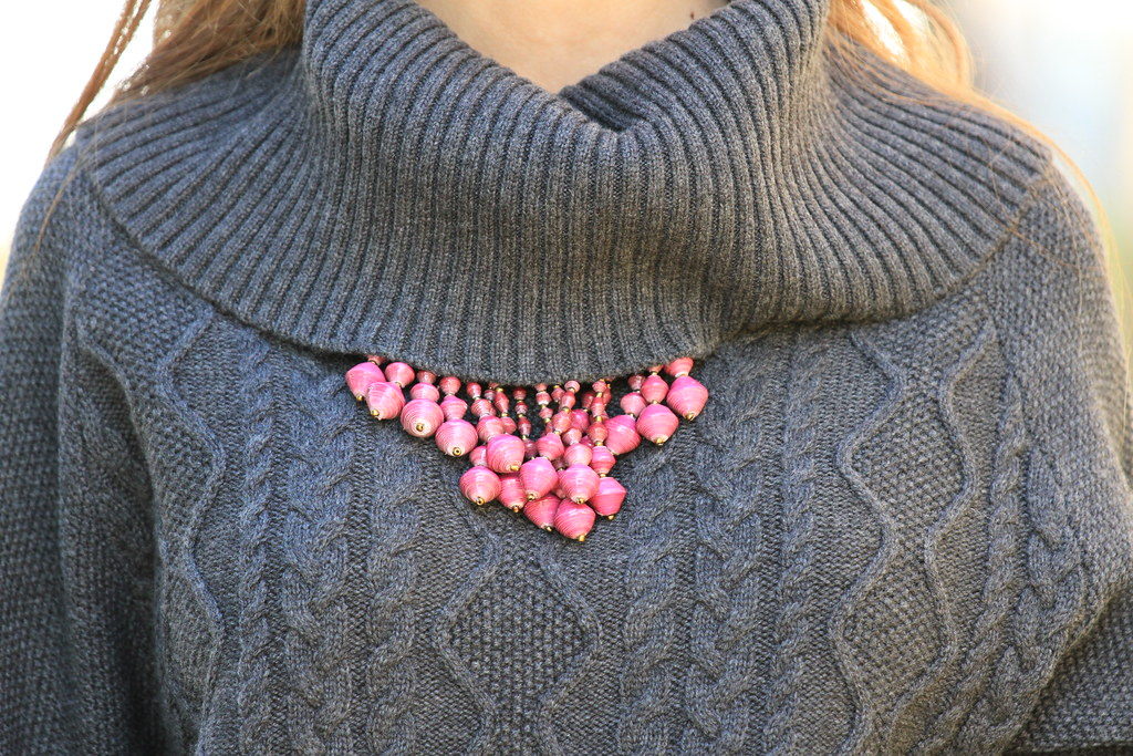 31 bits necklace, cashmere jumper