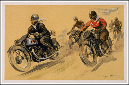 1930's Motorcycle Racing illust by bullittmcqueen
