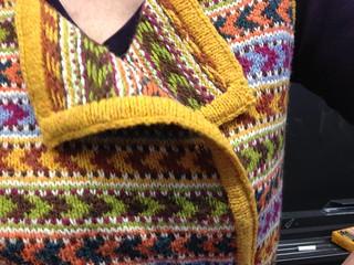Detail of Misa Erder's Shuffle reversible vest