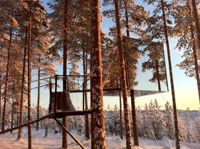 【北欧】デザイン大国スウェーデンの独創的すぎる森のホテル「ツリーホテル」