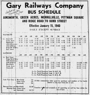 3-5-2010 1940 Bus Schedule