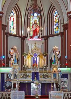 Imageof Basilique du Sacré-Cœur de Jésus. india sacrécoeur église tamilnadu inde pondichéry dalbera