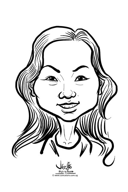 digital live caricature sketching for National Heart Centre Singapore -7