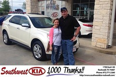 Happy Anniversary to Shelby on your #Chevrolet #Equinox from Jacob Rosales at Southwest KIA Rockwall!