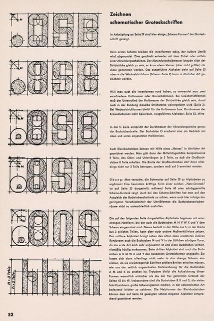 """""""Schrift"""" by Ernst Bentele, p52"""