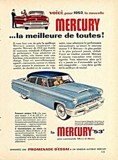 1953 Mercury 4-Door Sedan Ad (Canada)