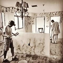 Kitchen remodel well underway. #kitchen #remodeling #drywall  #blackandwhitephotography #prisma