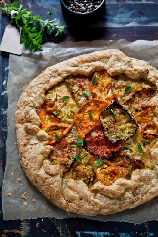 Heirloom Tomato Galette