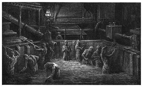 019- Mezclando la malta para fabricar cerveza-London A Pilgrimage 1890- Blanchard Jerrold y Gustave Doré- © Tufts Digital Library