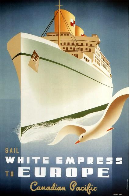 Roger Couillard. Sail White Empress to Europe. 1950