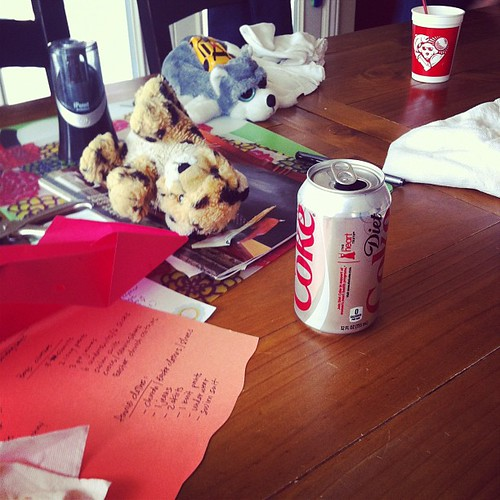 And all the stuffs animals and their paraphernalia get donated. Except my diet coke of course.