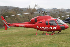 G-ORDH - 2006 build Eurocopter AS355N Ecureuil II, at the 2012 Cheltenham Festival