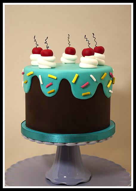 Drippy Icing 50th Birthday Cake Flickr - Photo Sharing!