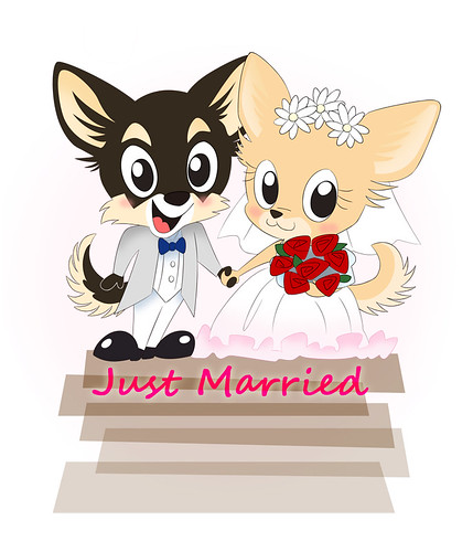 Chihuahua wedding card by kuro-risu