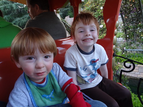 Archie and Henry on the Casey Jr. Train