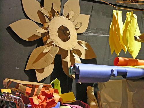 cardboard sunflower