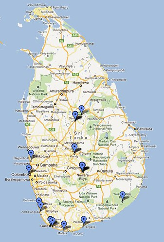 Sri Lanka map photo