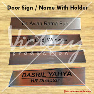 contoh Door Sign/Door Name