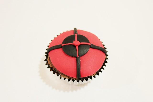Hawkeye Cupcake