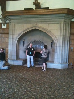 Fireplace at glen eyrie