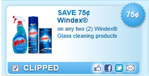 Windex Glass Cleaning Products Coupon