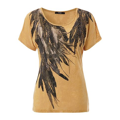 Feather Tribal Print Top