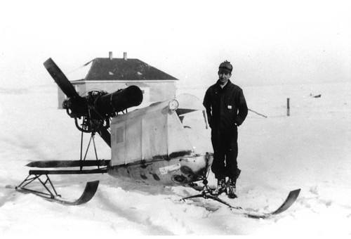 Snow plane Abe Rogers