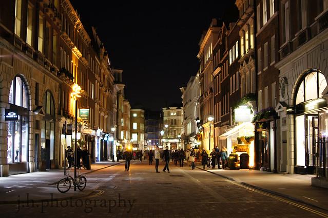 colourful city nightlife