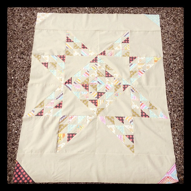 Custom quilt for @sarahandaddison  p.s. it's hard to get a picture on a windy day!!!
