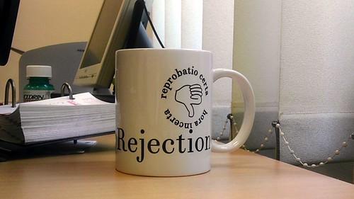 """Journal of Universal Rejection"" coffee mug"