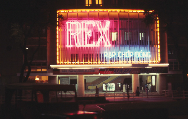 Saigon 1964 - Rex Movie Theatre - only escalator in Vietnam