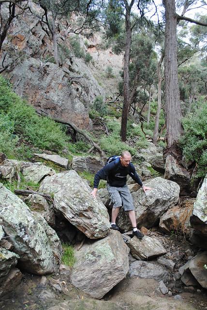 Traversing Ironbark Gorge - Werribee Gorge State Park - Victoria