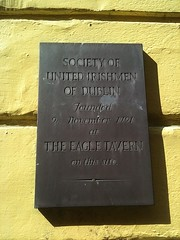 Photo of Society of United Irishmen brown plaque