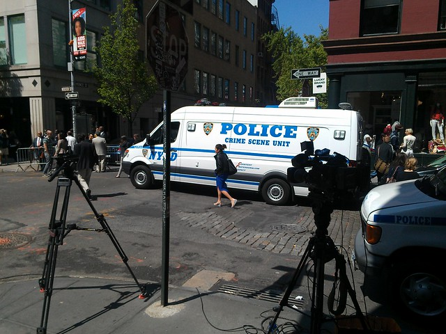 NYPD Crime Scene Unit at Prince and Wooster