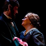 Ken Cheeseman (President Abraham Lincoln) and Karen MacDonald (Mary Todd Lincoln) in the Huntington Theatre Company's production of Paula Vogel's A CIVIL WAR CHRISTMAS: AN AMERICAN MUSICAL CELEBRATION playing at the BU Theatre. Part of the 2009-2010 season.