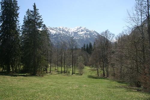 Alpenpanorama  - Schloß Linderhof