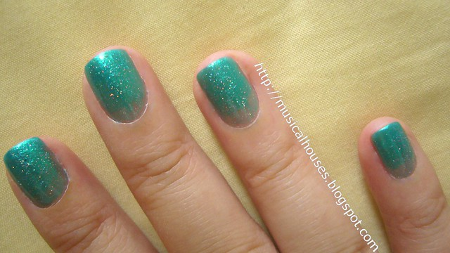 china glaze beauty and the beach fairydust syrup manicure 1