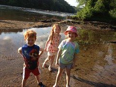 Playing in the Chattahoochee River by PrincessKaryn