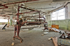 Large sewing or cutting machine? Abandoned Barber-Colman factory in Rockford, Illinois