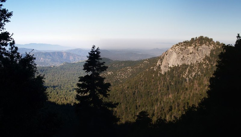 Suicide Rock and the view down to Idyllwild from the Devil's Slide Trail