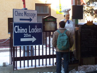 Chinese shop in Héviz for Austrian tourists: China Laden
