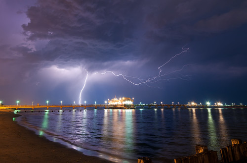 ocean sea summer people usa cloud storm beach water weather night clouds reflections photography lights bay virginia pier us fishing waves unitedstatesofamerica norfolk lightning spark thunder atmospheric thunderstorms harrisons discharge electic electrostatic skynoir