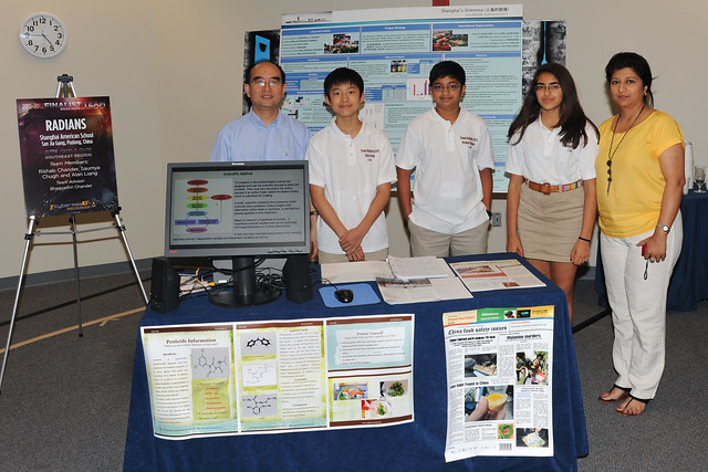The RADIANS team from the Shanghai, China were the eighth-grade winners of the Southeast region of the Army's eCYBERMISSION science competition.