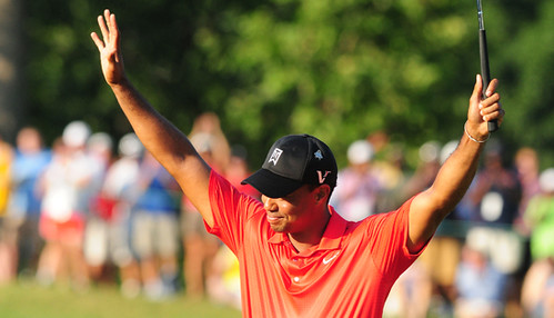 Tiger Woods wins (by Gary Newkirk, Tiger Woods Foundation)