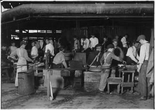 Scene in More-Jonas Glass Works. Bridgeton, N.J., November 1909